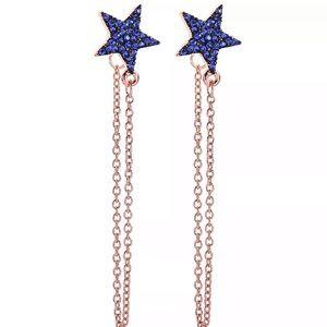 NWT Betsey Johnson Blue Star ⭐️ Dangle Earrings.